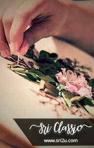 Imej Tempahan Bunga Sulaman RIben Dengan Kaedah Tampalan