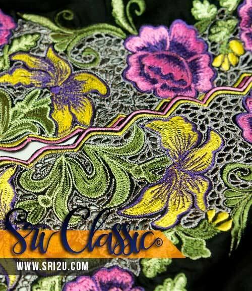 Thumbnail Corak Sulam Goyang Bunga Leletup Baju Kurung Johor