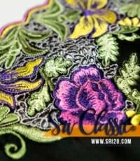 Corak Sulam Goyang Bunga Leletup Baju Kurung Johor