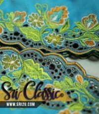 Corak Sulam Baju Kebaya Pengantin Bunga Songket