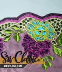 Baju Kurung Pahang Corak Sulam Bunga Melur