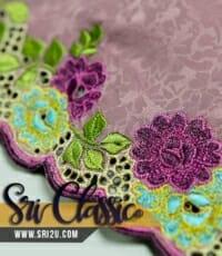 Corak Sulam Bunga Melur Baju Kurung Pahang