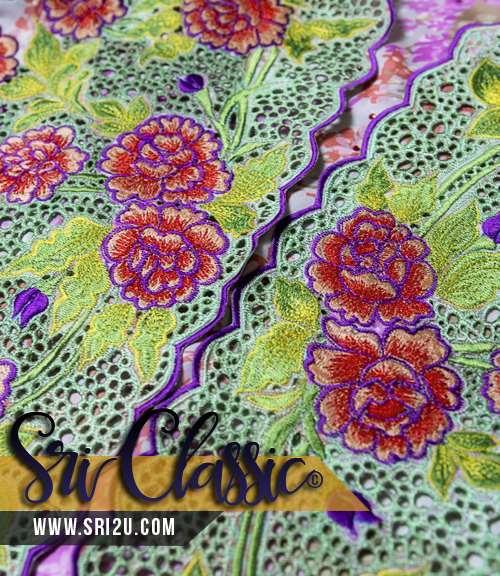 Corak Sulam Baju Kurung Pahang