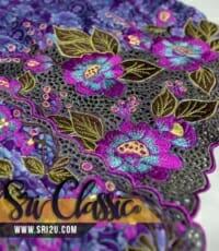 Sulam Baju Kebaya Tradisional Bunga Keladi Bunting dan Putik Inai