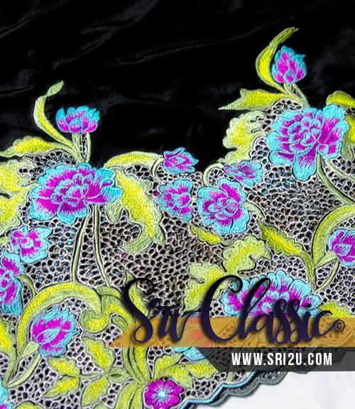 Koleksi Baju Kurung Moden Bersulam Corak Bunga Jasmine