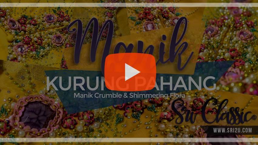 Baju Kurung Pahang Bermanik Corak Manik Crumble dan Shimmering Flora