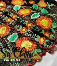 Baju Kebaya Malaysia Sulam Bunga Matahari