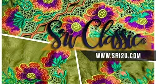 Sulaman-Kerawang-Air-Mata-Dengan-Motif-Sulaman-Bunga-Ros-Hutan-Baju-Kurung-Tradisional