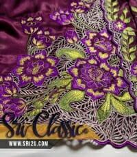 Baju Kebaya Nyonya Sulam Kerawang Bunga Magnolia