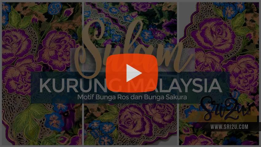 Baju Kurung Malaysia Bersulam - Butik Sulaman Sri2u