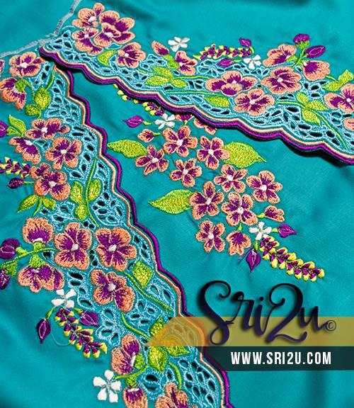 Sulam Embroidery Baju Kurung Malaysia