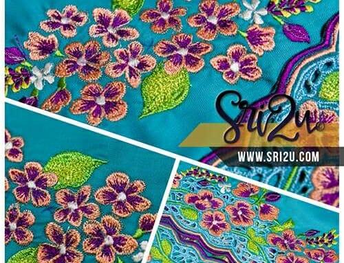 Baju Kurung Malaysia Sulam Mesin Embroidery