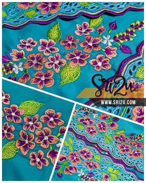 Sulam Mesin Embroidery Baju Kurung Malaysia