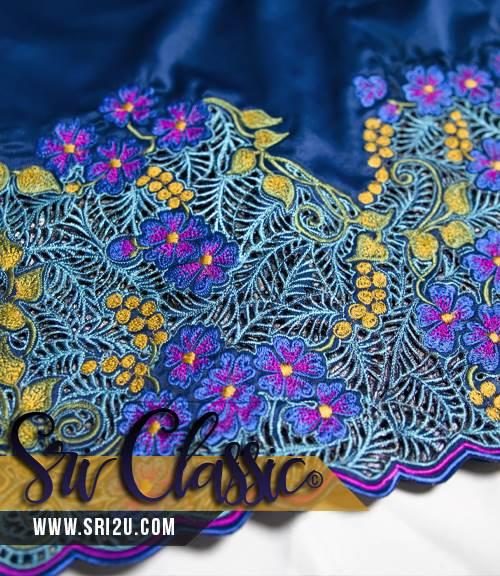 Baju Kurung Teluk Belanga Tradisional Sulam Kerawang - Koleksi Sulam Butik Sri Classic