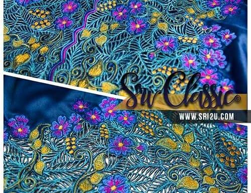 Baju Kurung Teluk Belanga Tradisional Sulam Kerawang