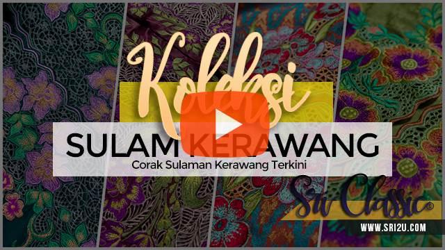 Design Baju Kebaya Fish Tail Bersulam Kerawang Motif Bunga Peony dan Bakawali