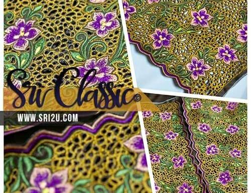 Fesyen Baju Kurung Moden Rekaan Sulam Bunga Jasmine