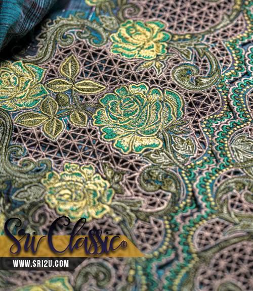 Sulam Goyang Baju Kurung Pahang Tenun