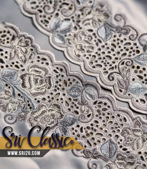 Sulam Goyang Kerawang Baju Kurung Moden