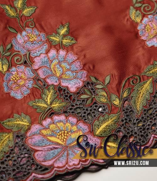 Tempahan Sulaman Kerawang Kurung Moden Motif Jasmine & Ros Liar